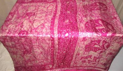 Cream Magenta Pure Silk 4 yard Vintage Sari Saree SALE DEAL Ireland www. #9A24D