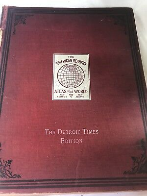 The American Readers Atlas Of The World. Detroit Michigan