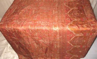 Brown Peach Pure Silk 4 yard Vintage Sari Saree Piece pictures www. Home #9A27H