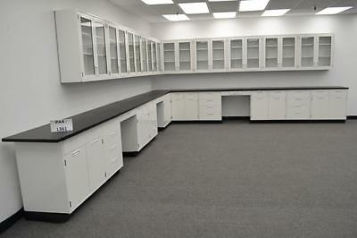 Hamilton Laboratory 34' Base Bench & 29' Wall Cabinets with Tops -