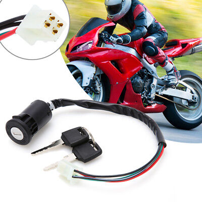 Ignition Key Switch Lock 4 Wires For Motorcycle Motor Scooters Motorcycle UK