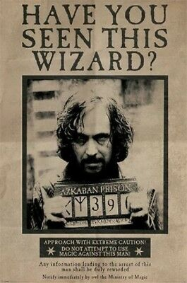 HARRY POTTER SIRIUS BLACK WANTED POSTER, Size 24x36