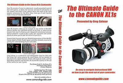 Canon XL1s Training DVD Guide, Tips, Tricks, Techniques Best Video Training NEW
