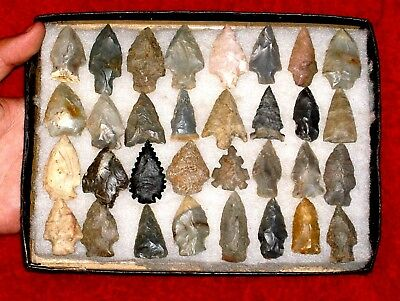 Authentic AL INDIAN  Arrowheads / LOT 4.BIRD POINTS