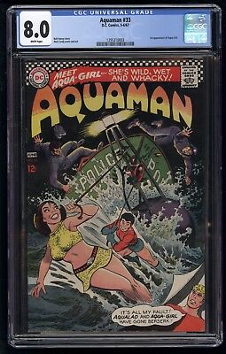 Aquaman (1962) #33 CGC 8.0 #1295310003 White Pages Blue Label 1st App Aqua-Girl