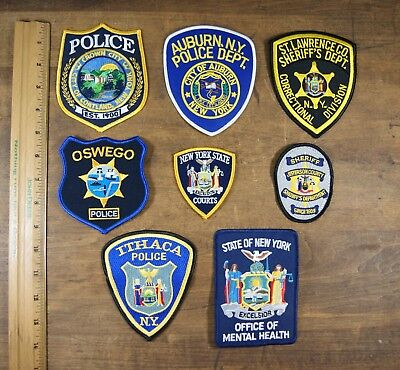 Lot of 8 Upstate New York State/County, Police, Sheriff, Patches, Unused L-0440