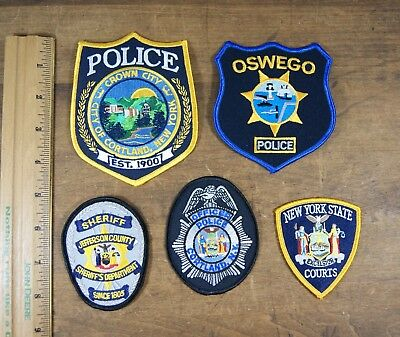 Lot of 5 Upstate New York State/County, Police, Sheriff, Patches, Unused S-2983