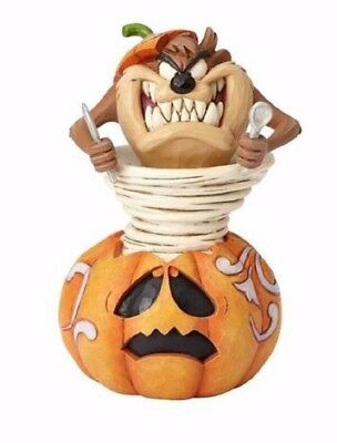 Jim Shore Looney Tunes Taz-o-Lantern Halloween Taz Pumpkin Figurine 4052812 New