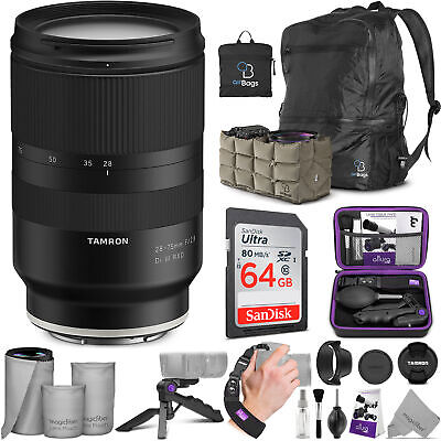 Tamron 28-75mm f/2.8 Di III RXD Lens for Sony E Mount Cameras w/Essential Bundle