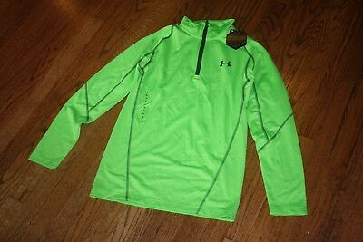 Men/'s UNDER ARMOUR FITTED 1//4 ZIP LONG SLEEVE PULLOVER SHIRT 1248937 838  Orange