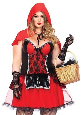 Sexy Curvy Red Riding Hood Halloween Costume Adult Women Plus Size New 85485x
