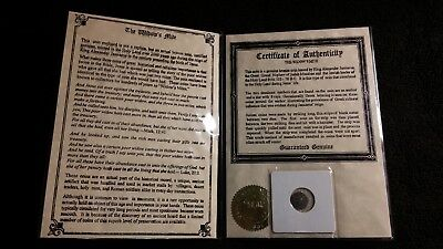Genuine Widow's Mite Coin with Certificate of Authenticity Estate Sale Find