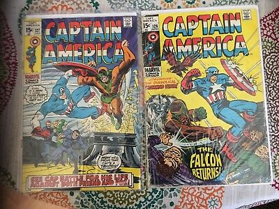 MARVEL Captain America Falcon 1970'S, 126 - 127 FRIEND AND FOE, FALCON RETURNS