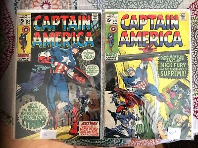 MARVEL Captain America 1970'S, 123-124 NICK FURY,  SUPREMA, CYBORG