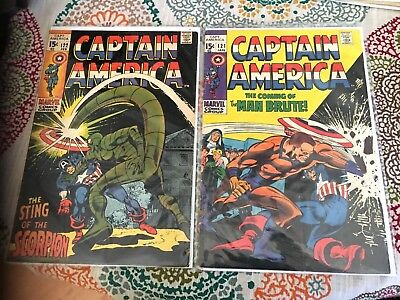 MARVEL Captain America 1970'S, 121-122 MAN BRUTE, SCORPION