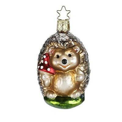Inge Glas Papa Hedge Hedgehog German Glass Christmas Tree Ornament FREE BOX