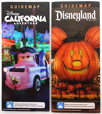 Disneyland and California Adventure Halloween Time 2018 Guide Map set