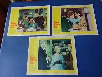 1961 Return to Peyton Place ,3 Lobby Cards, Carol Lynley, Tuesday Weld