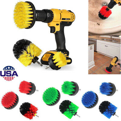 Tile Grout Power Scrubber Cleaning Drill Brush Tub Cleaner Combo 3x /Set Hot