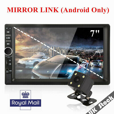 "2Din Car Radio Audio Stereo Player 7"" Bluetooth Touch Screen Camera Mirror Link"