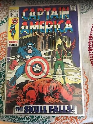 MARVEL Captain America 1970'S, 119 THE RED SKULL FALLS, FALCON