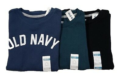 Old Navy Boys Waffle Knit Thermal Long Sleeve T-Shirt Lot of 3 Size S (6-7)