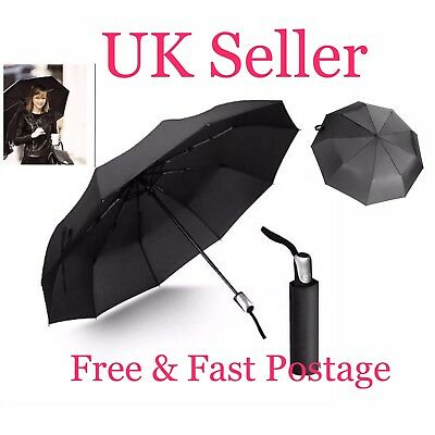 Mini Compact Umbrella Automatic Folding Windproof Strong Travel For Men's Ladies