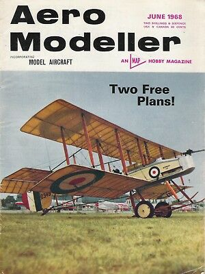 Aero Modeller Magazine. Volume XXXIII, No. 389, June, 1968. No plans or staples.