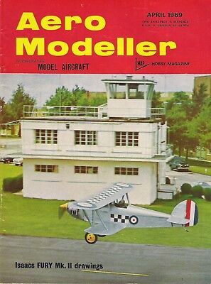 Aero Modeller Magazine. Volume XXXIV, No. 399, April, 1969. Isaacs FURY Mk. II.