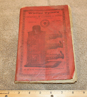 1890s Walter Tylers MAGIC LANTERNS & SLIDES CATALOG 470 pages