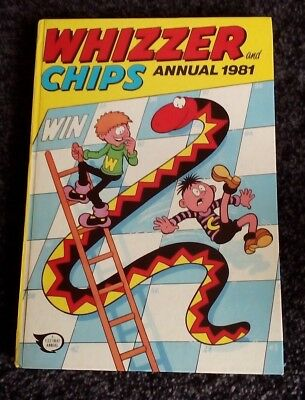 Whizzer & Chips Annual 1981.  Hardback Book.  Vintage.  Original Price Intact.