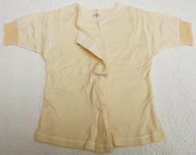 Wool vest LENA LASTIK Ladies thermal underwear Button bodice Vintage 1920s 1930s