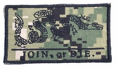 US NAVY Join Or Die AOR2 SEALS USN Army camouflage Klett patch