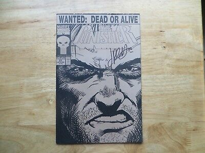 1991 Marvel Punisher # 57 Wanted Poster Double Cover Signed Jimmy Palmiotti Poa