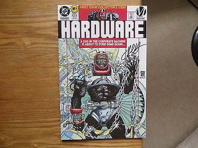 1993 Dc Comics Hardware # 1 & Poster Both Signed By Jimmy Palmiotti, With Poa