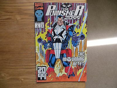 1993 Vintage Marvel Comics Punisher 2099 # 2 Signed By Jimmy Palmiotti With Poa