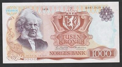1000 Kroner From Norway 1975 Unc