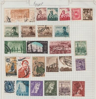 EGYPT Collection, Sphinx, Agriculture, Defence, etc  as per scan, USED #
