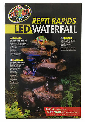 Zoo Med Repti Rapids Led Light Small Rock Style Waterfall Reptile Terrarium Viv