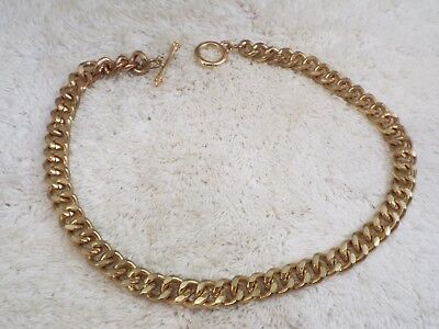 Heavy Goldtone Chain Necklace (A43)