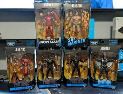 "2018 Marvel Legends Black Panther Wave 1 6"" Action Figure Set Of 5 Okoye Baf"
