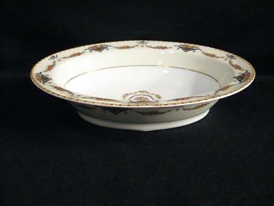 Theodore Haviland Limoges France Pomona Cream Footed Oval Vegetable Serving Bowl