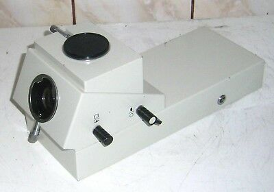 Carl Zeiss Jena JENAVAL microscope trinocular photo head magnification changer