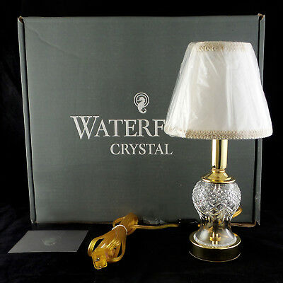 Waterford Crystal Sullivan Candlestick Electric Mini Accent Lamp Table Nightlite