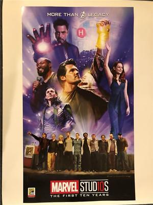 Sdcc 2018 Marvel Studios The First 10 Years Poster Comic-Con Hall H Avengers
