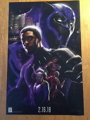 Sdcc 2017 Marvel Black Panther Movie Concept Art Promo Poster Comiccon Exclusive