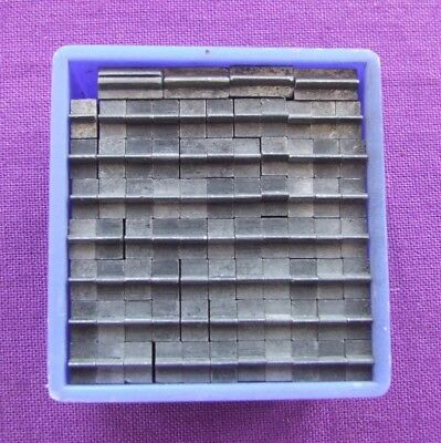 Letterpress Printing ADANA Small Box 12pt SHORT METAL RULES 77 pieces TYPE