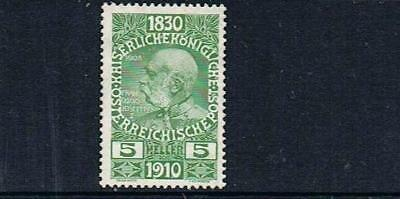 STAMPS from AUSTRIA 1910  FRANCIS JOSEPH - Birthday 5H (MINT- HINGED) lot A20b