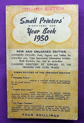 Letterpress Printing Adana SMALL PRINTERS YEAR BOOK 1950-1951 edition Aquarius P