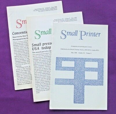 Adana Letterpress Printing BPS THREE SMALL PRINTER Magazines from May 1969